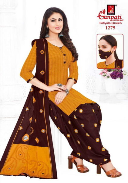 Ganpati Patiyala Queen Readymade Suits