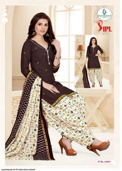 IPL vol 10 Cotton print dress materials wholesale
