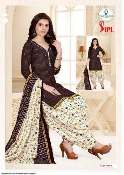 IPL vol 10 Cotton print dress materials wholesale