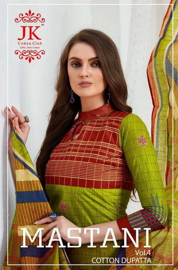 JK Mastani vol 4 Cotton Print Dress Materials