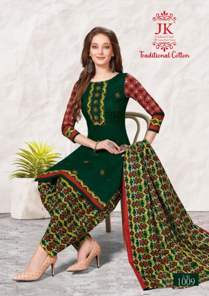 Jk Traditional Cotton vol  1 Printed Dress Material