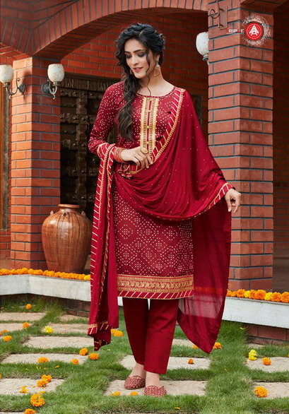 Kumkum Bandhani Dress Materials wholesalers