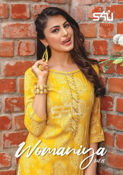 S4U Womaniya vol 16 Kurtis with Pants wholesalers