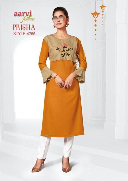 Aarvi Prisha vol 2 Formal Long Kurtis wholesalers