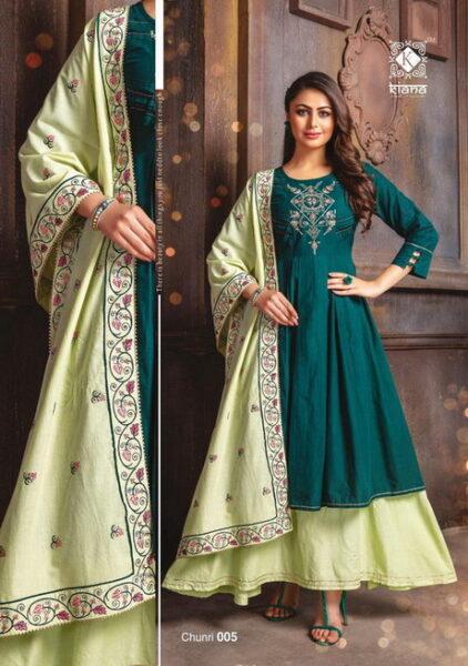Kiana Chunari Gown Kurtis with Dupatta Wholesalers