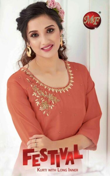 MF Festival Kurtis with long inner Kurtis wholesaler