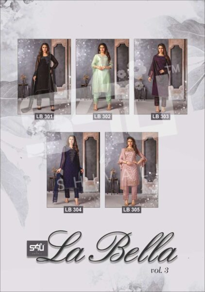 S4U Labella vol 3 Designer Tops with Pants & Dupatta