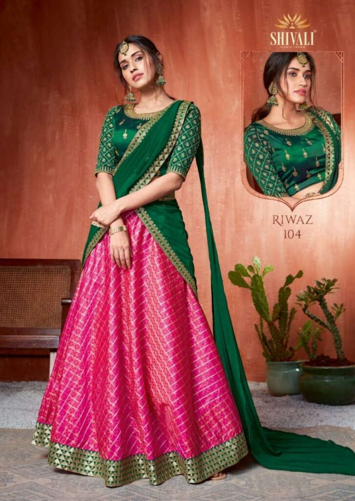 S4U Shivali Riwaz Designer Lehanga choli Combo