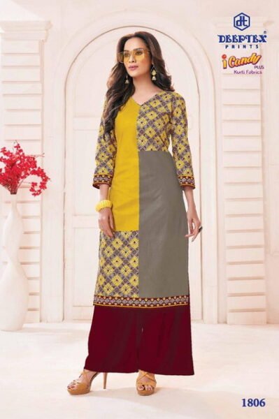 Deeptex I candy Plus Low range Cotton Kurtis wholesalers