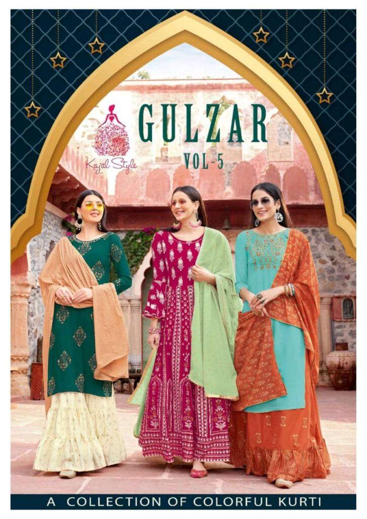 Kajal Gulzar vol 5 Kurtis with Bottom & Dupatta