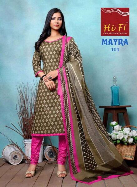 HiFi Mayra Cotton Dress Materials wholesalers