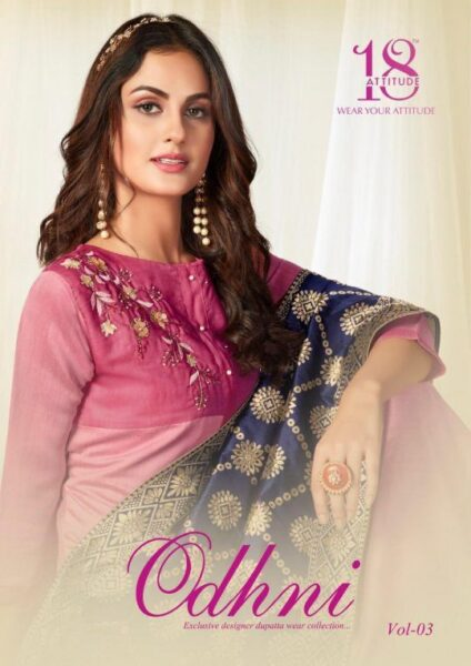 Odhani vol 3 Silk Kurtis with Dupatta wholesalers