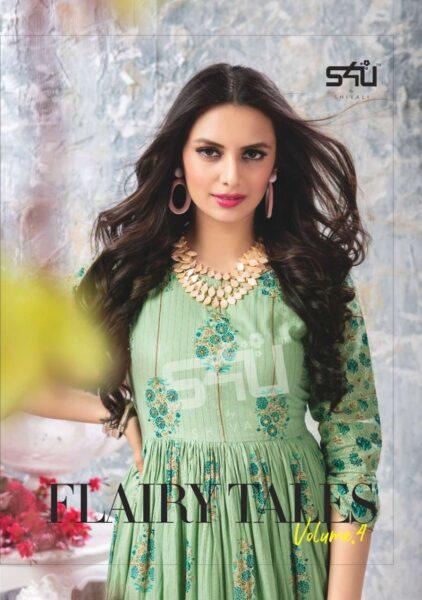 S4U Flairy Tales vol 4 Gown Kurtis wholesalers