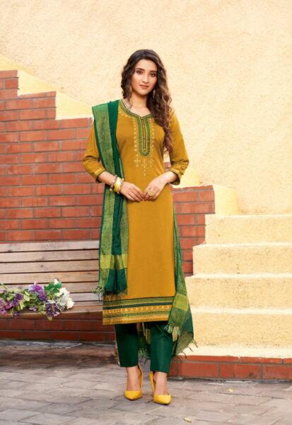 Panch Ratna Golden Designer Salwar Kameez wholesalers