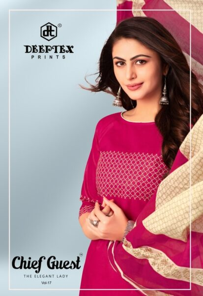 Deeptex Chief Guest vol 17 Cotton Dress Materials wholesaler