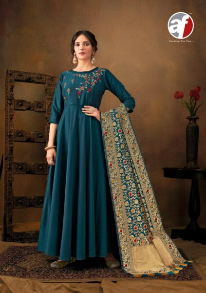 Haseen Pal vol 6 Silk Gowns with Dupatta Wholesalers