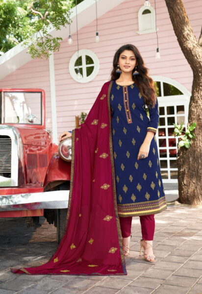 Panch Ratna Traditional Silk Salwar Kameez Wholesalers