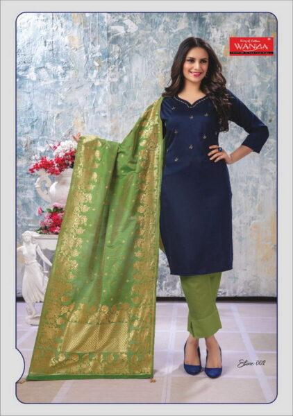 Wanna Shine Silk Kurtis with Dupatta wholesalers