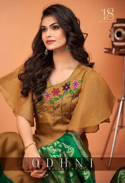 18 Attitude Odhani vol 4 Silk Kurtis with Dupatta wholesalers
