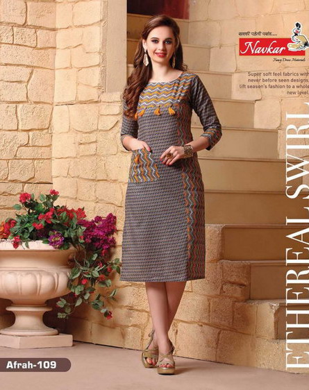 Afrah Formal Cotton Kurtis Manufacturer