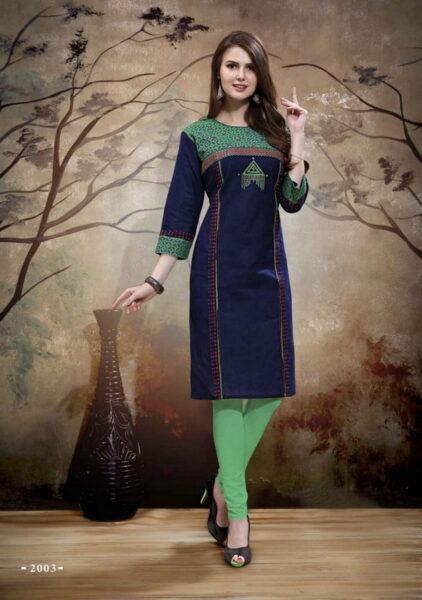 Balaji Heroine Cotton Kurtis Catalog wholesalers