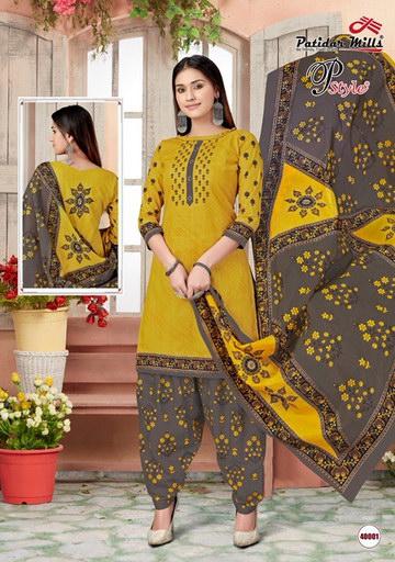 P Style Vol 40 Cotton Print Dress Materials wholesalers