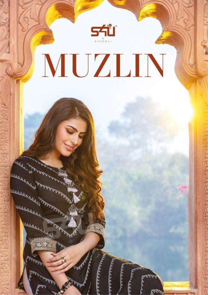 S4U Muzlin Designer Muslin Kurtis wholesalers