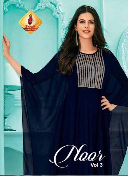 Shruti Noor vol 3 Designer Georgette Kurtis wholesalers