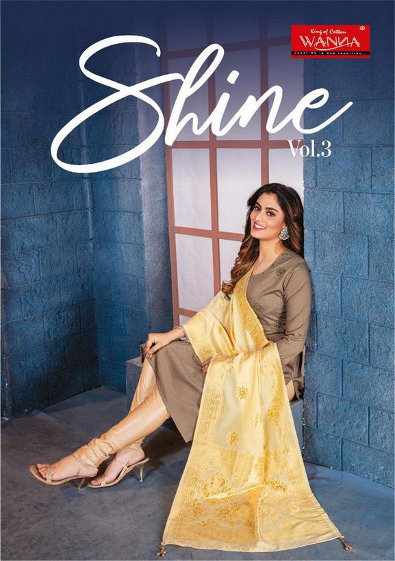 Wanna Shine vol 3 Silk Kurtis with Dupatta