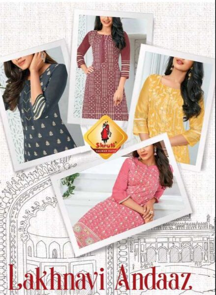 Lakhnavi Andaaz Shruti Kurtis with Bottom