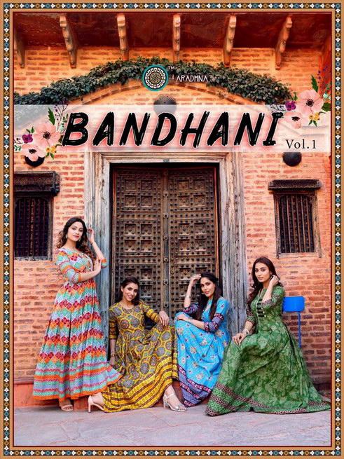 Bandhani vol 1 Gown Bandhani print Kurtis