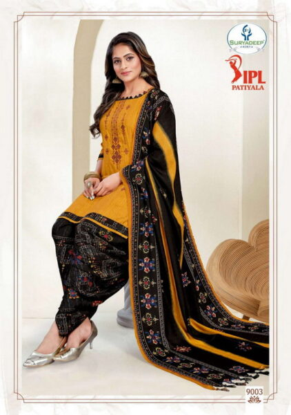 IPL Patiyala vol 9 Cotton Print Dress Materials wholesalers