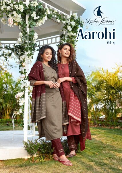 Ladies Flavour Aarohi Vol 4 Kurtis with Pants & Dupatta