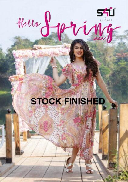 S4U Hello Spring 2021 Frock style Kurtis wholesalers