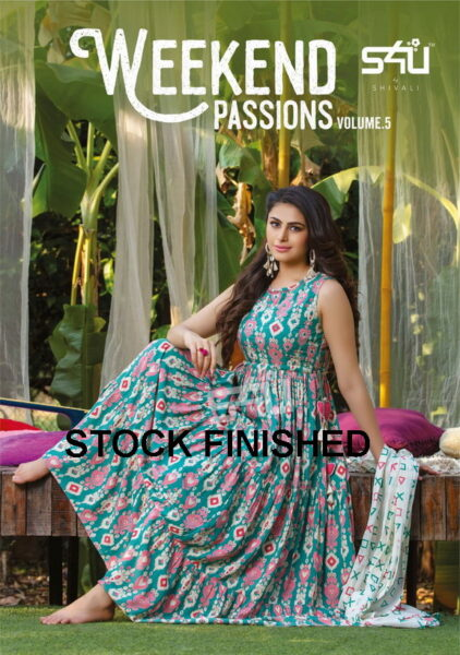 S4U Weekend Passion vol 5 Frock Kurtis with scarves