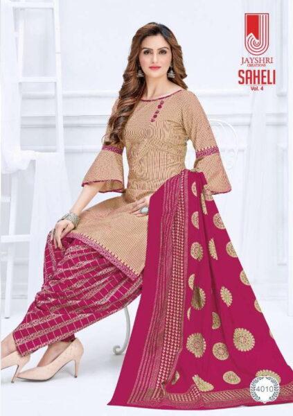 Saheli vol 4 Cotton Print Dress Materials wholesaler