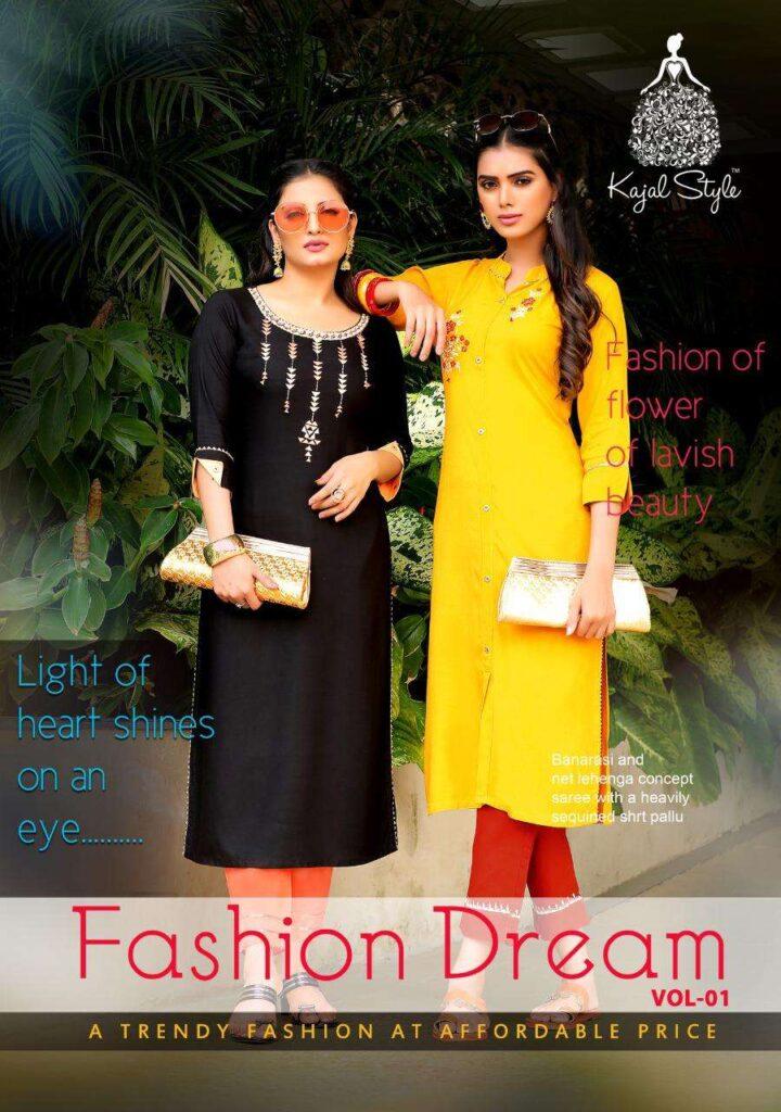 Kajal Fashion Dream vol 1 Kurtis with Pants wholesaler