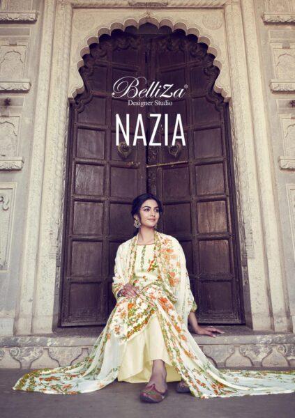 Nazia Belliza Karanchi print Pakistani Dress Materials