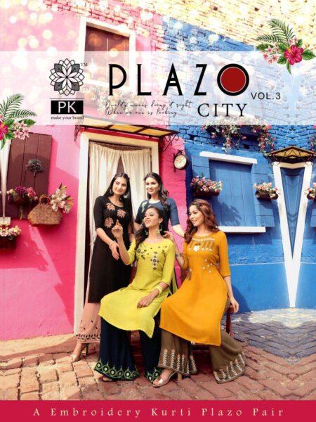 PK Palazzo city vol 3 Kurtis with Palazzo wholesalers