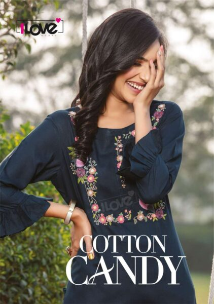 S4U Cotton Candy Designer Long Kurtis wholesalers