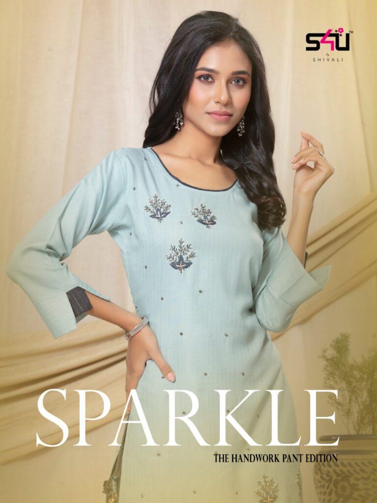 S4U Sparkle Kurtis with Pants catalog wholesalers
