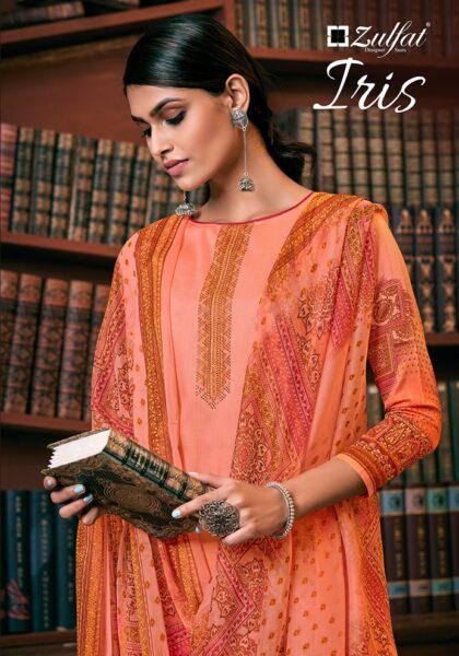 Zulfat Iris Karanchi print Pakistani Dress Materials