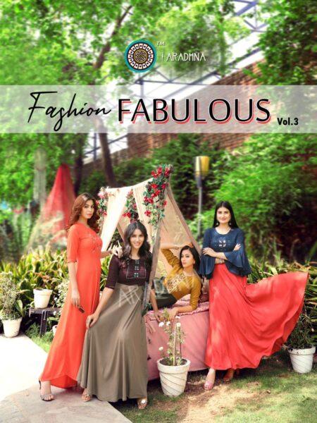 Aradhana Fashion Fabulous vol 3 Gown Kurtis wholesaler