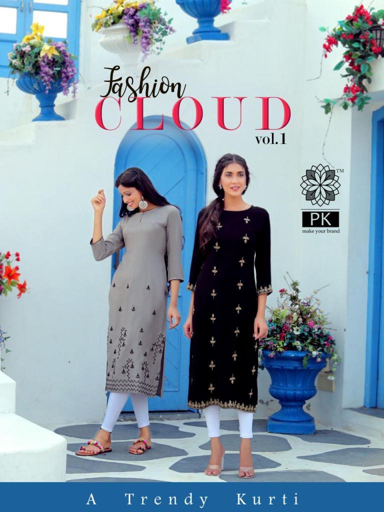 Fashion Cloud vol 1 Long Rayon Kurtis wholesalers