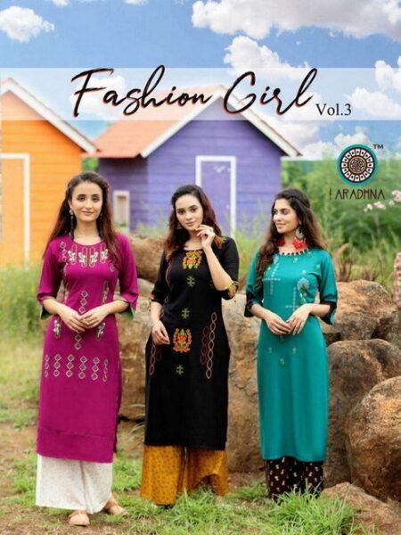 Fashion Girl vol 3 by Aradhana Kurtis with Palazo wholesalers