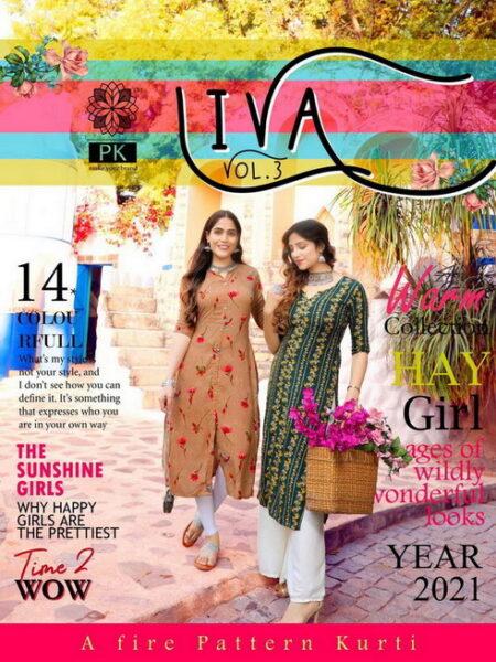 Liva vol 3 Rayon print Kurtis wholesalers