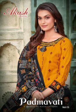 Mayur Akash Padmavati vol 13 Cotton Print Dress materials