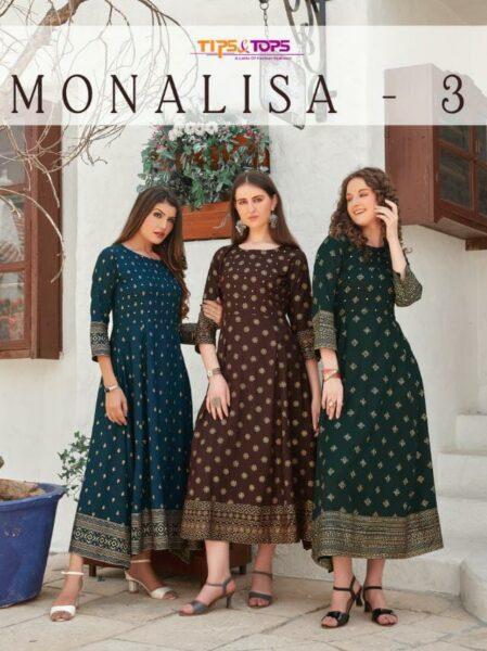 Monalisa vol 3 Gown Kurtis wholesalers