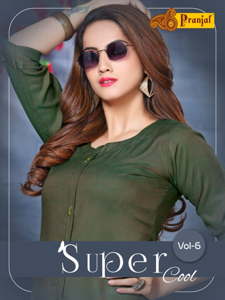 Pranjal Super cool vol 6 Formal Kurtis wholesalers