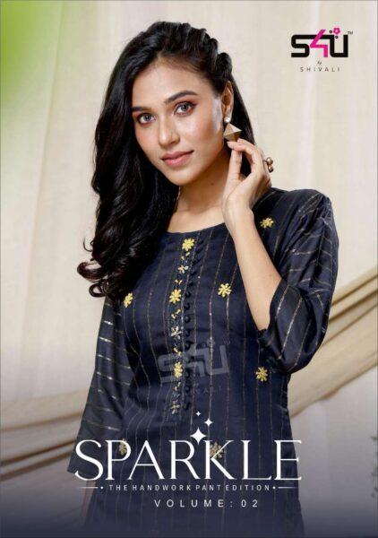 S4U Sparkle vol 2  Kurtis with Pants wholesaler